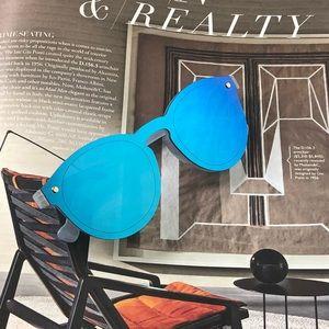 NWT - Spring Break Polarized Round Blue Sunglasses